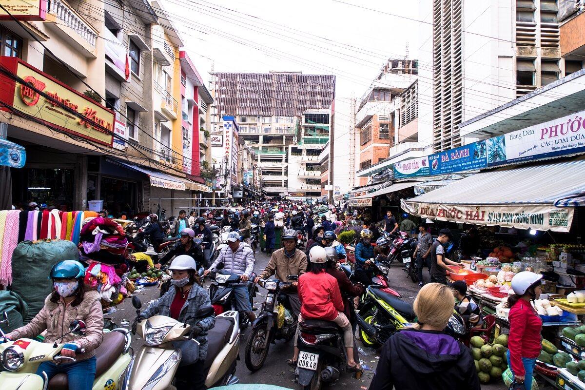wietnam miasto targowisko